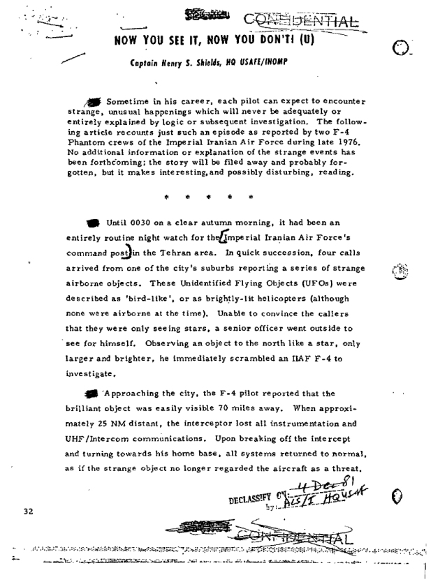 Tehran ufo incident 1976 1 censored on wikileaks